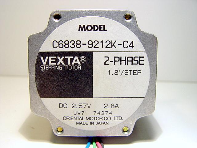 Vexta 2 phase stepping motor 1 8deg step c6838 9212k c4 ebay Vexta 2 phase stepping motor