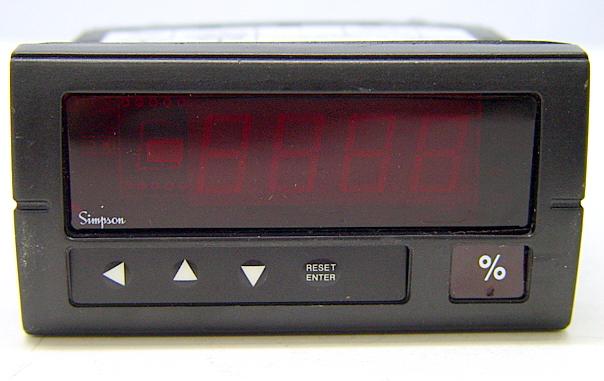 Simpson Panel Meter : Simpson h digital panel meter controller
