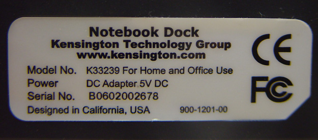 Kensington Laptop Notebook Docking Station Dock K33239