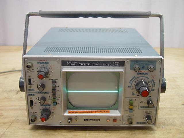 Dual Trace Oscilloscope : Leader dual trace oscilloscope mhz lbo a repair ebay