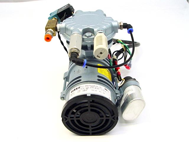 Gast LOA 114 HD Oilless Rocking Piston Vacuum Pump Air Compressor w Capacitor